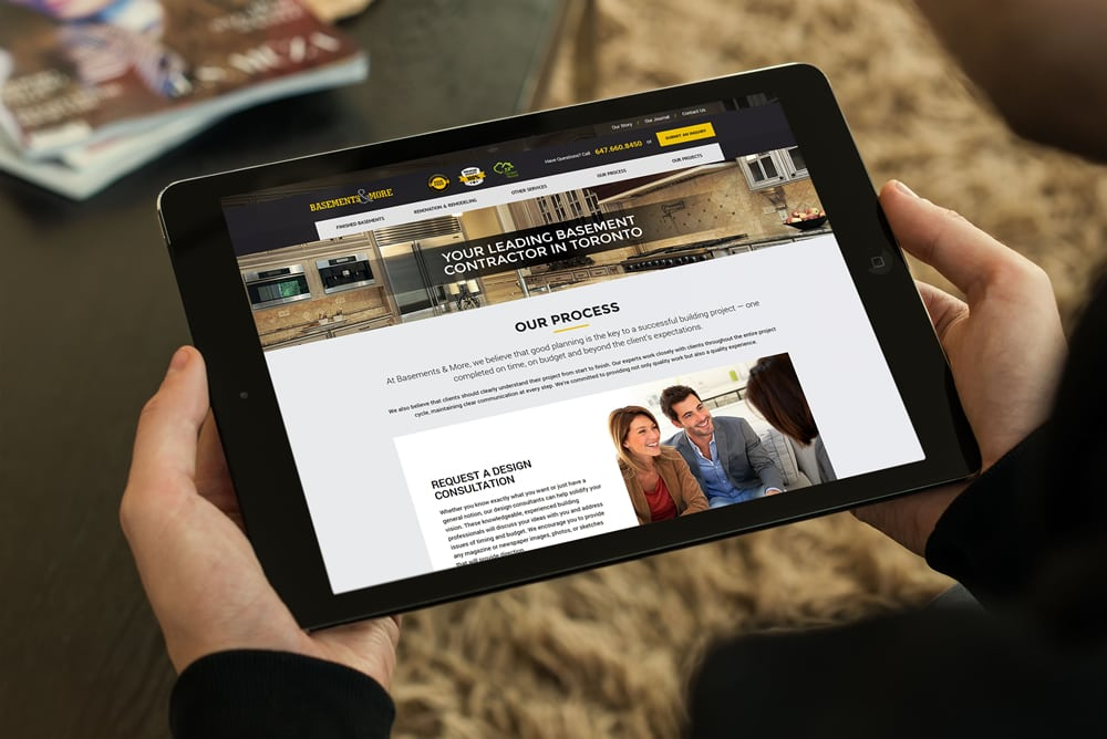 Website For Basements More Convergine