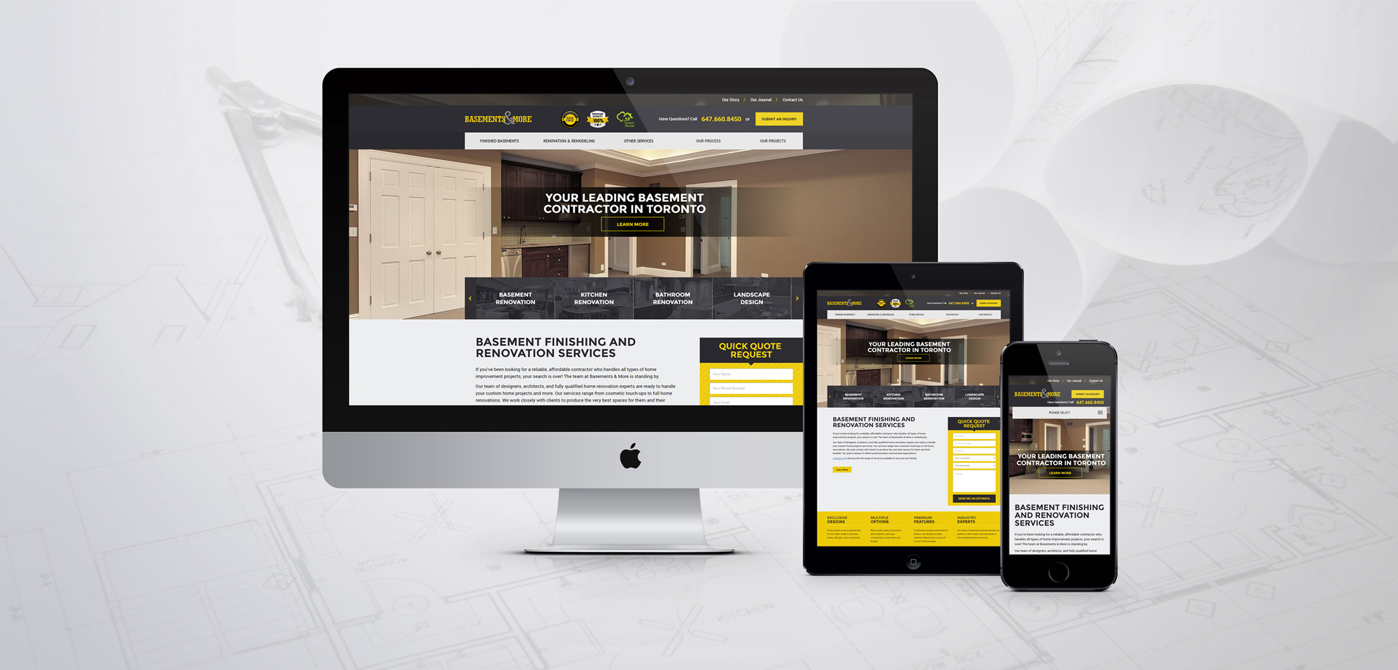 Website For Basements More Convergine